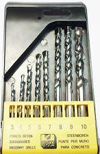 8pc  Masonry / Concrete Drill Bit Set / Kit TZ DR114