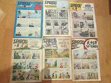 6 magazines bande dessinée BD spirou 1953 1954 1955
