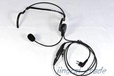 2 PIN Headphone Headset for Motorola GP300 CP200 HYT TC-600 TC-700 with boom mic