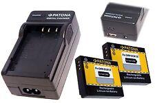 4in 1 Lader USB + 2x AKKU  f. Panasonic Lumix Outdoor DMC-FT5 / DMW-BCM13