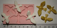 SILICONE MOULD DOVE BIRDS VINTAGE SHABBY CHIC WEDDING ICING CUPCAKE FIMO TOPPER