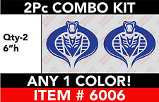 "TRANSFORMERS DECEPTICON COBRA 2 Pc 6"" Combo DECAL STICKER ANY 1 COLOR"
