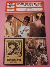 Reflections In A Golden Eye Marlon Brando Elizabeth Tayor French Trade Card