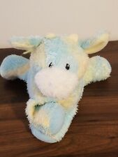 Baby Gund Sprinkles Cow 58207 Yellow Blue Plush stuffed musical Comfy Cozy