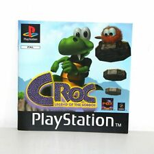 INSTRUCTION MANUAL FOR PS1 PSONE PLAYSTATION CROC LEGEND OF THE GOBBOS GAME