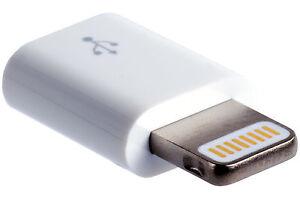 Apple MD820ZM/A Adapter Ladeadapter Lightning-Stecker auf USB Micro-B-Buchse