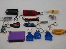 16 Piece Key Chain Lot DARE Miller Lite Imperial Ford Chisco AARP Canada