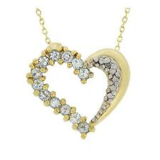 18k Silber .60 Blue Topas & Diamant Herzanhänger