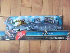 DC Aquaman Movie Jason Momoa Aquaman & Warrior Shark Hidden Missile Launcher NEW