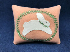Kit; sweet bunny bowl filler/wool applique, pattern,  fun and easy