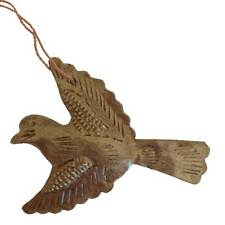 Hanging Dove Christmas Decoration - Metal - Handmade in Haiti - Fair Trade