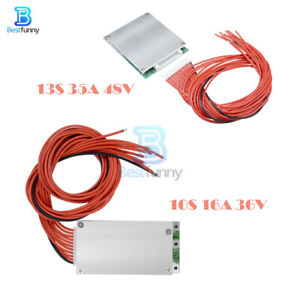 13S 35A 48V BMS PCB PCM 10S 16A 36V Lithium Battery Balance Protection Board