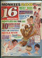 16 Magazine Oct 1967 Monkees Beatles Rascals Dino,Desi & Billy DC5    MBX89