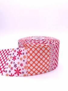 "Flower Spot Pattern 3""  75mm Grosgrain Ribbon per meter"
