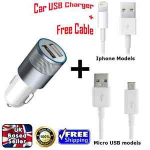2 in1 UNIVERSAL USB 12V DUAL CAR CHARGER SOCKET LIGHTER iPhone Samsung HTC iPad