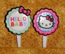 Hello Kitty Baby,( Baby Shower) Cupcake Picks,Plastic,Pastel,Bakery Craft,12 ct.