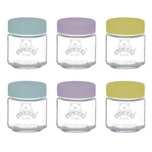 6pc Kilner Kids 110ml Glass Jar Baby Food Storage Container/Canister w/ Lid Set