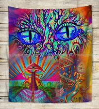 trippy psychedelic wall tapestry wall decals heppy