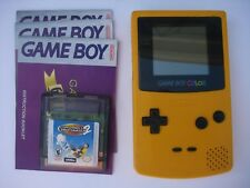 BANANA / YELLOW NINTENDO GAMEBOY COLOR GAME SYSTEM, W /FREE GAME - WORKS