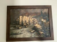 Custonza Oil Painting. 21.5 X 27 Framed