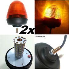 DUE 12V/24V SINGOLO 1 BULLONE PUNTO SUPPORTO LED LAMPEGGIANTI AMBRA ARANCIO