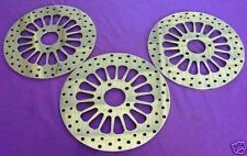 84'-99' NEW SS HARLEY 11.5 HD BRAKE ROTORS FXR-2 FRONTS & 1 REAR W/ CHROME BOLTS