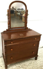 Vtg. Traditional Style Chest Of Drawers W/ Mirror Lot 2322