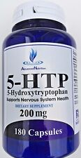 5-HTP 200mg Big Bottle 180 Capsules Weight Management Mood Serotonin Gluten FREE