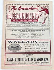 .SCARCE …. THE QLD RUGBY UNION NEWS VOL. 19 No. 2 APRIL 6-7, 1963. SOUTHS v ARMY