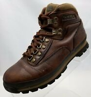 Timberland Womens Ankle Boots Hiking Trail Brown Leather Lace Up Size 7.5M