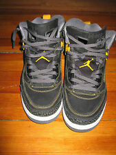 Pre-owned Air Jordan Spizikes Black Yellow Basketball Shoes Size 11
