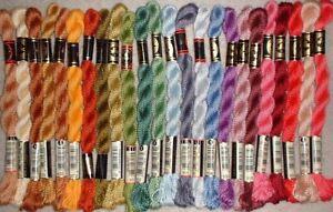 DMC #3 Pearl Cotton Thread Yarn Floss Needlepoint Crewel Embroidery Lot of 24 JG