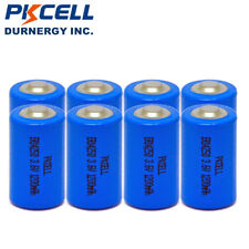 8PCS High Energy ER14250 3.6V 1200mAh 1/2AA Li-SOCl2 Lithium Batteries PKCELL