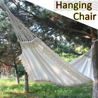 Swing Hammock Chair Seat Swinging Garden Hanging Fabric Canvas Lace Cotton Rope