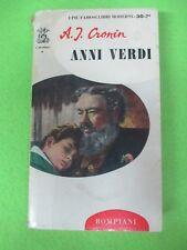 BOOK LIBRO ANNI VERDI A.J. Cronin 1965 Bompiani (L52)