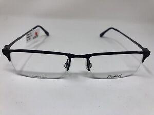 Flexon Eyeglasses Frame E1080 412 55-18-145 Navy Blue Gunmetal Titaniun MG27