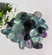 8 Stunning Fluorite Crystal Tumblestones - Mixed Colours