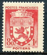 STAMP / TIMBRE FRANCE NEUF N° 555 ** BLASON / POITIERS