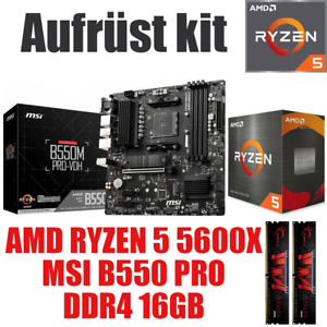 AMD 🆁🆈🆉🅴🅽 5 5600X ● MSI B550 Mainboard ● 16GB RAM ● Ryzen PC Bundle Set Kit