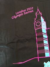 Black London Olympic 2012 Games T-shirt Black Small Womens or Large Child's