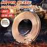 25ft Roll Coil of 3/16'' OD Copper Nickel Brake Line Tubing Kit + 16 Fitting Nut
