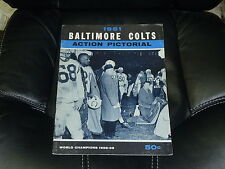 VINTAGE 1961 BALTIMORE COLTS FOOTBALL YEARBOOK EX JOHNNY UNITAS