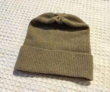 c6a22f670765e PORTOLANO 100% Cashmere Ribbed Cuff Hat Beanie  95 Nile Brown Tan