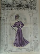 RELIURE LA MODE ILLUSTREE 1905 1906 GRAVURES COULEURS FASHION