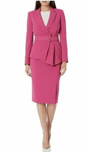 NWT,Tahari Women's Belted Jacket with Pencil Skirt Suit