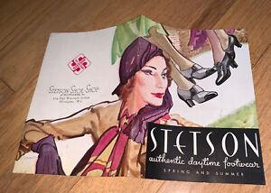 1912 STETSON SHOES / FOOTWEAR Brochure w/ Beautiful Color Drawings