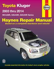 Haynes Toyota Kluger MCU28R GSU40R GSU45R 2003-14 Repair Manual WORKSHOP SERVICE