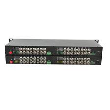 32CH Video Fiber optic Media Converter for CCTV - S/M 20Km FC 19'' 1U Rack