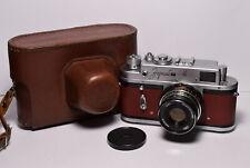 ZORKI 4 Brown body Soviet 35mm Rangefinder Camera, Industar-61 L/D (2.8/55)