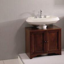 base copricolonna mobile bagno copri colonna 70cm massello noce arte povera |11